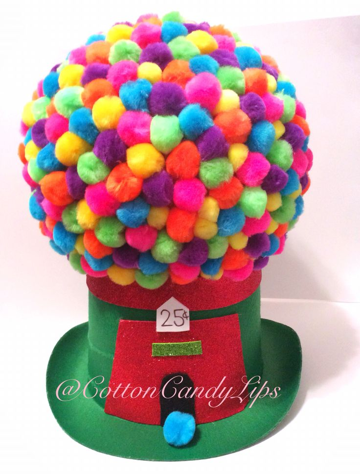 Crazy Hat Day Gumball Machine Hat @CottonCandyLips                                                                                                                                                                                 More