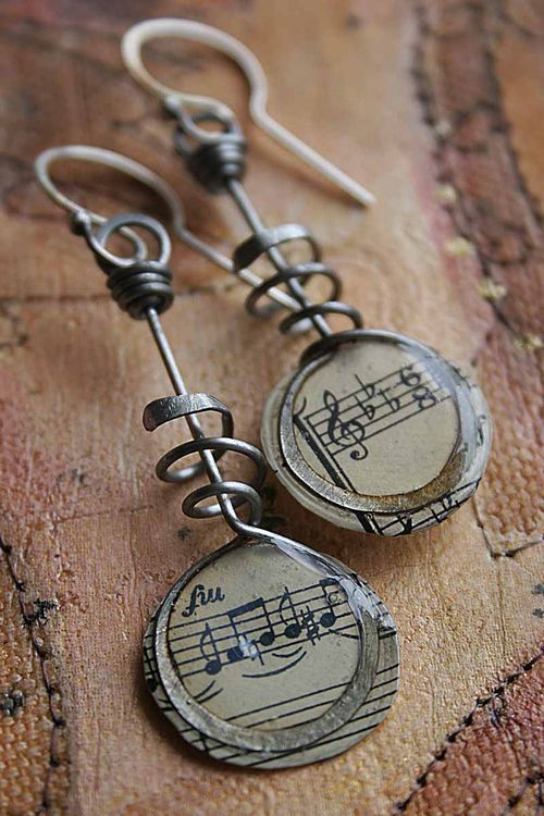 somethingsublime blog, gorgeous resin and iron wire music earrings