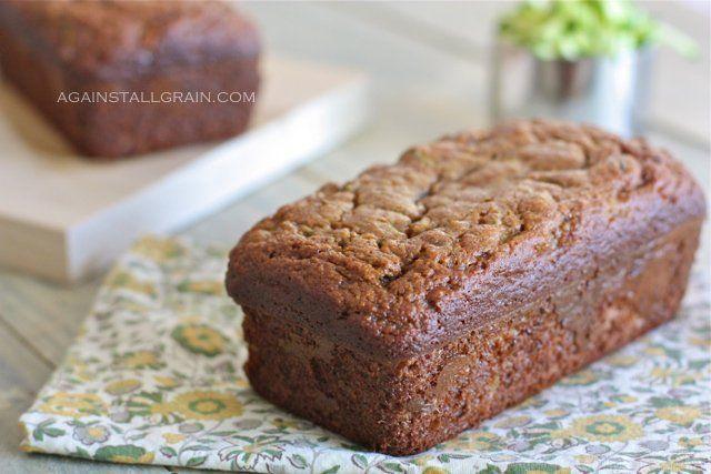 Almond Flour Zucchini Bread: almond flour, cinnamon, baking soda, salt, nutmeg, eggs, honey, banana, zucchini