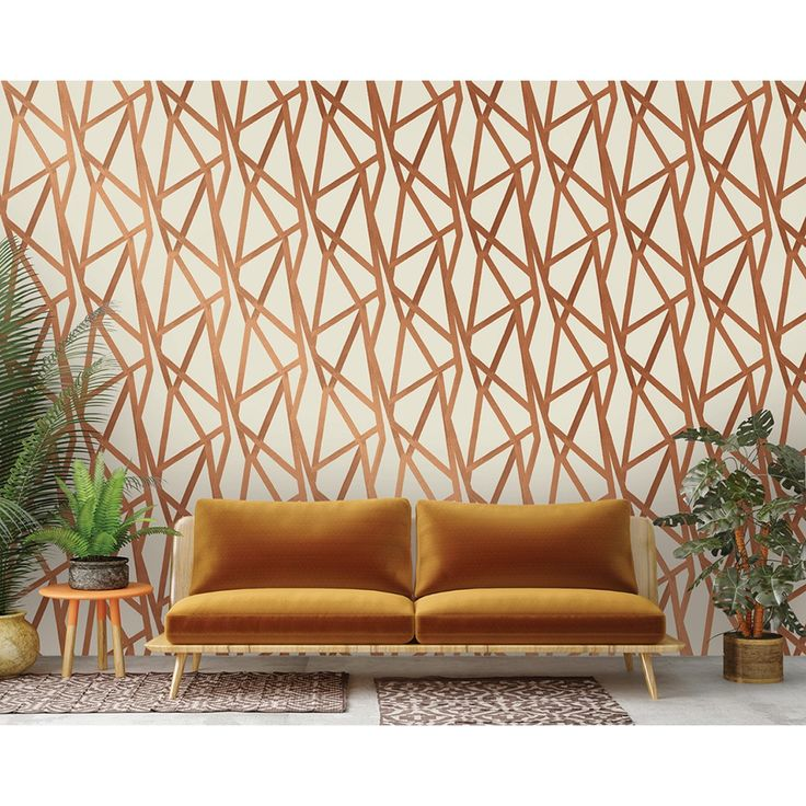 Dress Up Your Walls With The Help Of This Tempaper Intersections Urban Bronze Self Adhesive Removable Wallpaper By Genevieve Gorder