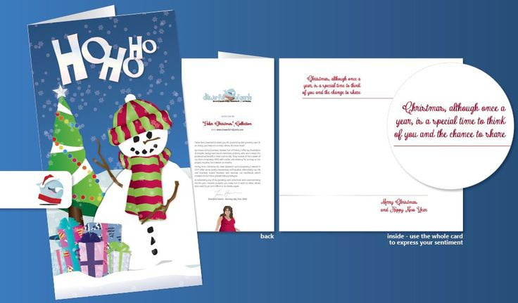 A look at the inside and back of my 'Polar Christmas' Collection for sale now at www.drawerfullofgiants.com