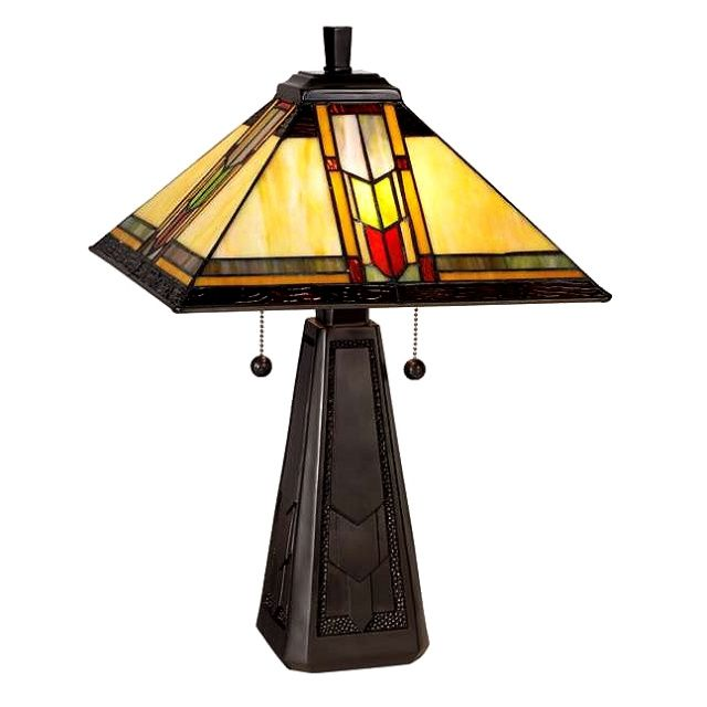 Tiffany Arrow Mission Craftsman Table Lamp