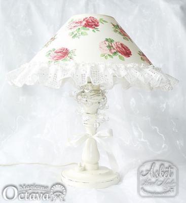Переделка старой лампы под шебби Click on photo to see more! Нажмите на фото чтобы увидеть больше! decoupage art craft handmade home decor DIY do it yourself shabby chic