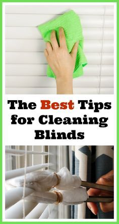 The Best Tips for Cleaning Blinds- Here are some handy tips on how to clean your window blinds so you can stay on top of this time consuming chore! These tips make cleaning them so quick and easy! | cleaning tips, homemaking tips, cleaning hacks, tips and tricks, how to clean blinds, home cleaning tips | home management