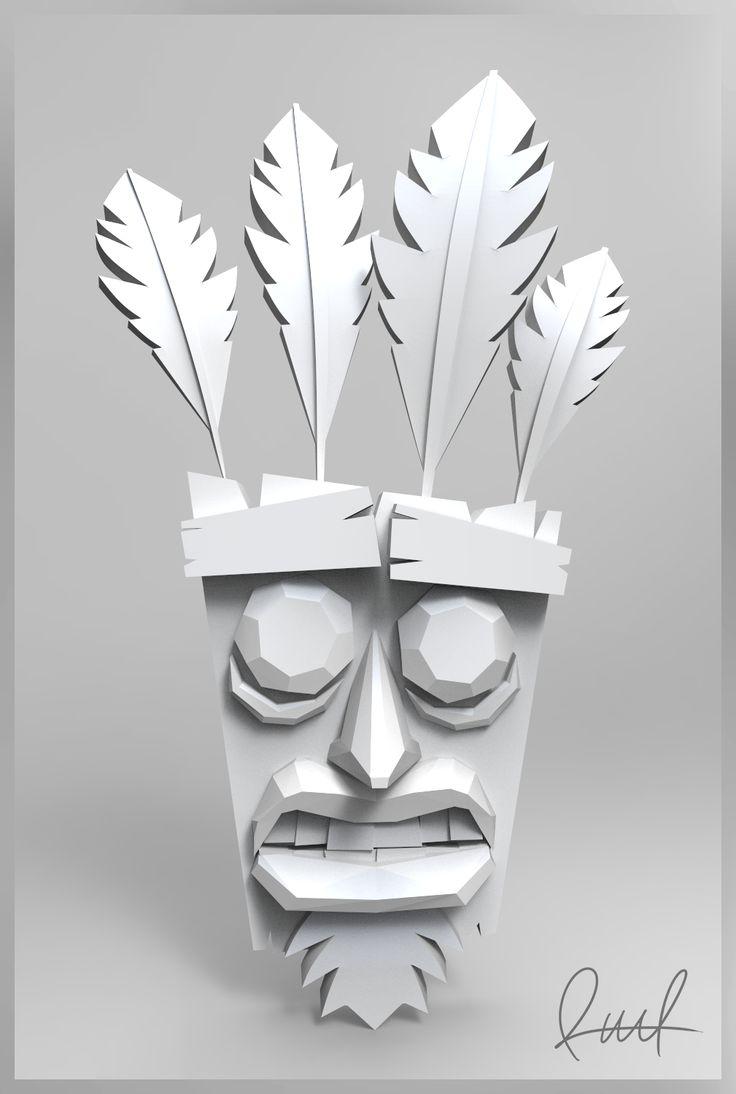 Echa un vistazo a mi proyecto @Behance: \u201cAku Aku. Crash Bandicoot.  Render. Raul®\u201d https://www.behance.net/gallery/48228025/Aku-Aku-Crash-Bandicoot-Render-Raul