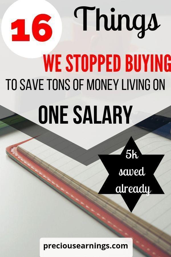 16 Dinge, die wir nicht mehr gekauft haben, um eine Menge Geld zu sparen. Von zwei Gehältern zu einem …   – Finance & Budget Tips