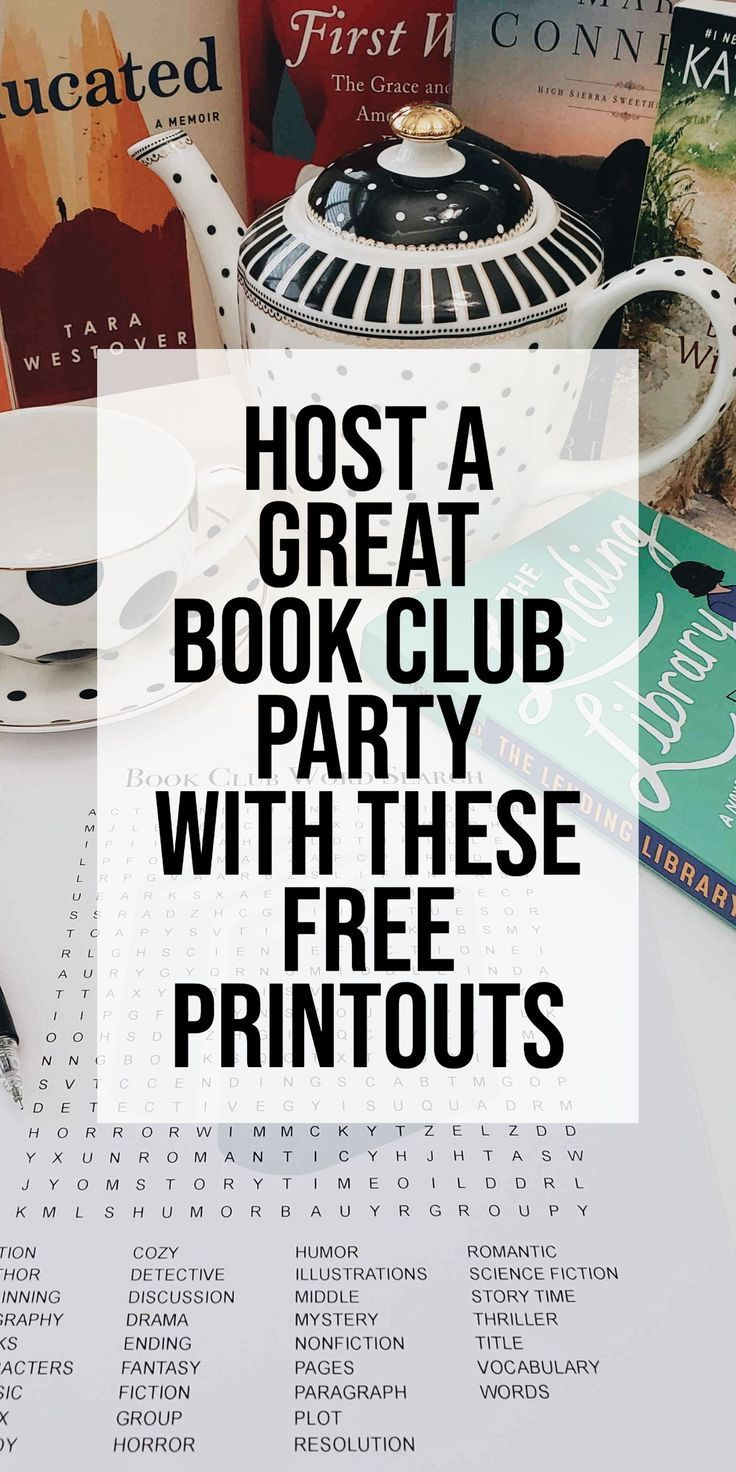 I believe we fuel companionship and inspiration in books. My friends and I like to share and compare the world of books, fiction and non-fiction. Here are some fun and free printouts you can use at a book club! Napkin rings, gift tags, word Search and answer key. #bookclub #hostingideas #ideas #books #napkinring #tablesetting #wordsearcj #partygames