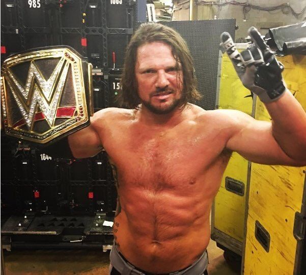 New WWE World Champion, AJ Styles backstage after WWE Backlash from Sunday 9/11/16, celebrating his title win in Club style!
