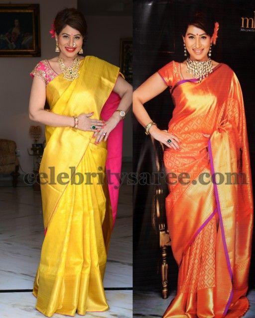 Shreedevi's Silk Bridal Sarees | Saree Blouse Patterns