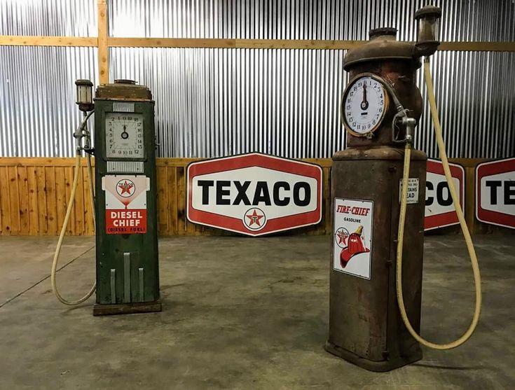 Original Clock Faced Gas Pumps - Texaco