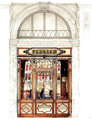 "Florian magnet ""Entrance"" Caffè #Florian a #Venezia San Marco - Florian #cafè in #Venice Saint Mark #travel #travelinspiration  #italy #italia #veneto #instaitalia #italianalluretravel #lonelyplanetitalia #lonelyplanet"