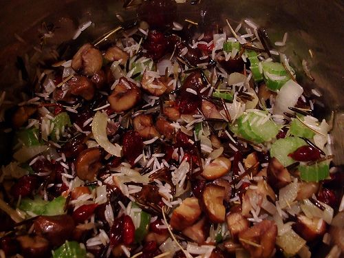 Wild Rice Stuffing with Cranberries and Hazelnuts - Gluten Free