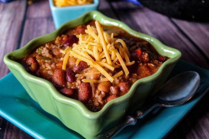 This chili has the makings of a champion, but it's so simple! You can modify the peppers used to turn up the heat.