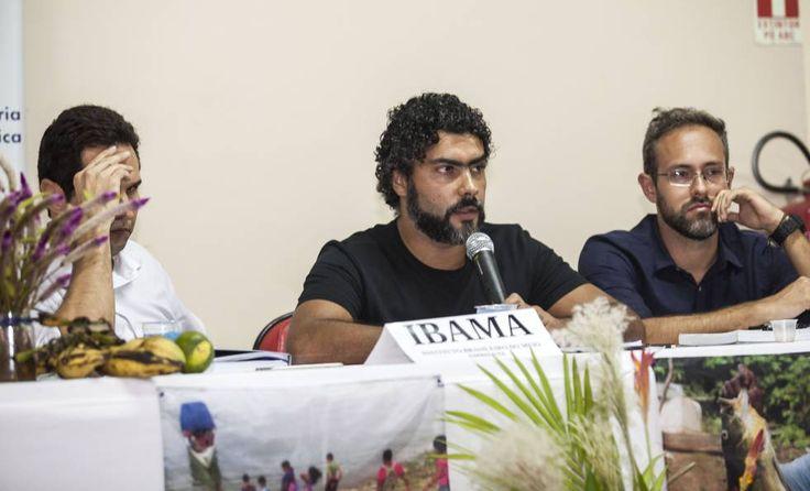 10   ELIANE BRUM (03.04.2017)   Representantes do Ibama, na audiência pública sobre a Volta Grande do Xingu: da esquerda para a direita, Ricardo Zoghbi, Frederico Amaral e Hugo Loss.
