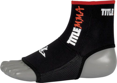 TITLE MMA PRO Ankle/Foot Grips Black bjj muay thai kickboxing martial arts #TITLE