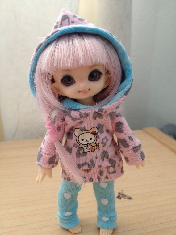 Little Fawn Hoodie for PukiPuki and Lati White SP BJD