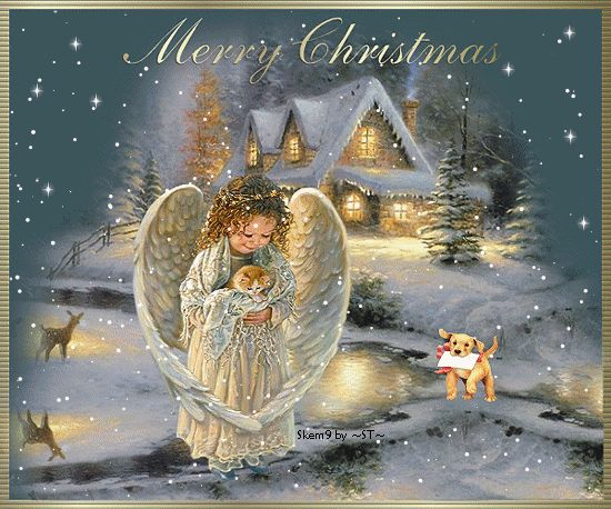 30 Happy Holidays, Merry Christmas Animated Gif Greetings - Best Animations