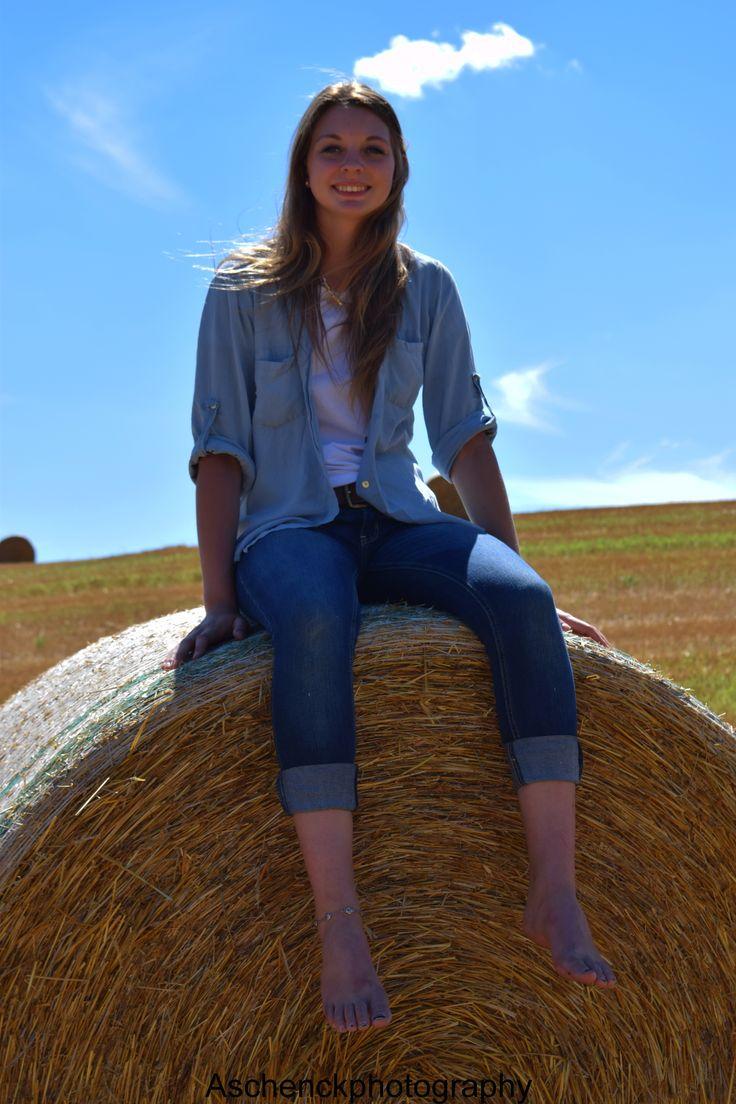 Senior Photography * Farm Senior Photos * Hay Bale Photography * Country Photography * Summer * Senior Photography Ideas *
