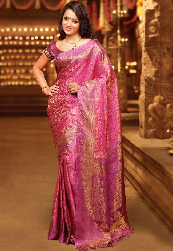 Pothys Light Pink and Gold Samuthirika Silk Saree