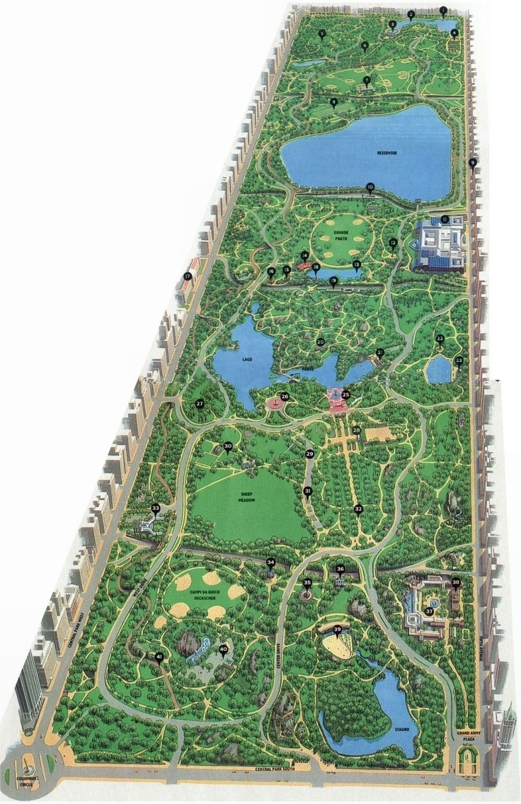 2007 Central Park Map 55 best New