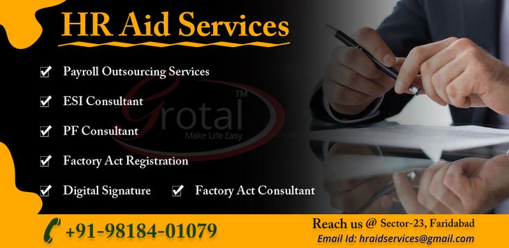 Enroll yourself for HR aid Services as they provide several services payroll,ESI consultant,PF consultant,Factory Act Registration,Digital Signature.