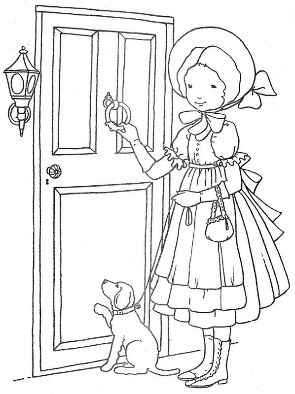 coloring pages of door - photo#42