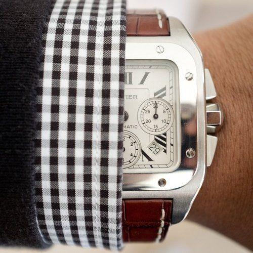 Fancy - Cartier Santos 100 XL Steel Chronograph