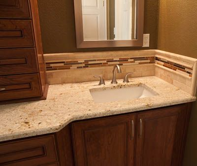 Granite Countertops Simple Color Scheme Not Too Busy Tile Backsplash House Updates