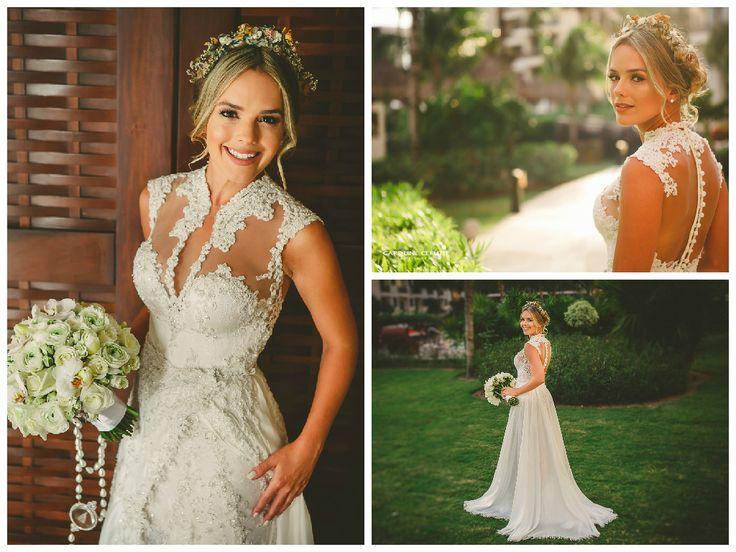 Vestido noiva cantora Thaeme - Casamento Thaeme e Fábio
