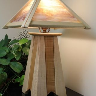 "Mission Lamp Built with the Rockler Piloted Flush Trim Router Bits - 1/4"" Shank"
