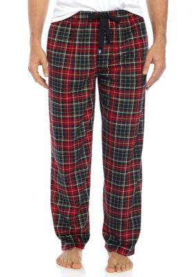Izod Men's Silky Fleece Plaid Sleep Pants - Oxford - Xl