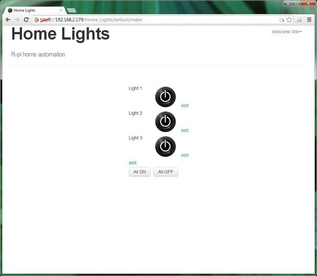 """Tutorial to use a Pi to automate your home lights (or Christmas Lights). """"Picture of Raspberry Pi GPIO home automation"""""""