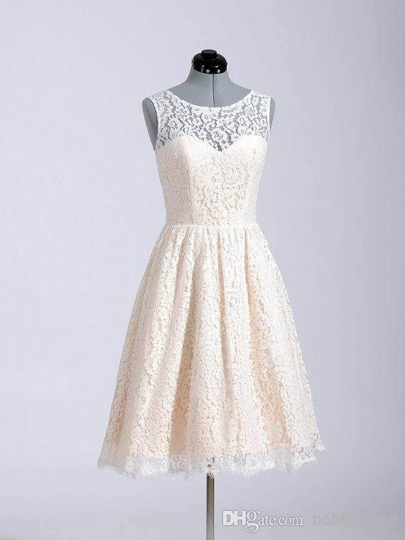 Lace Bridesmaid Dresses 2015 A Line Short Coral Lavender Knee Length Custom Made In Stock For Wedding Party Cheap JH