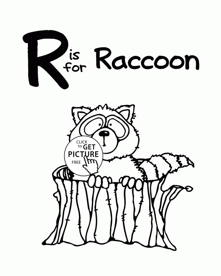 Letter R Alphabet Coloring Pages For Kids Words Printables Free Wuppsy