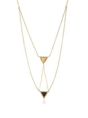 65% OFF Kevia Onyx Two Tiered Triangle Necklace
