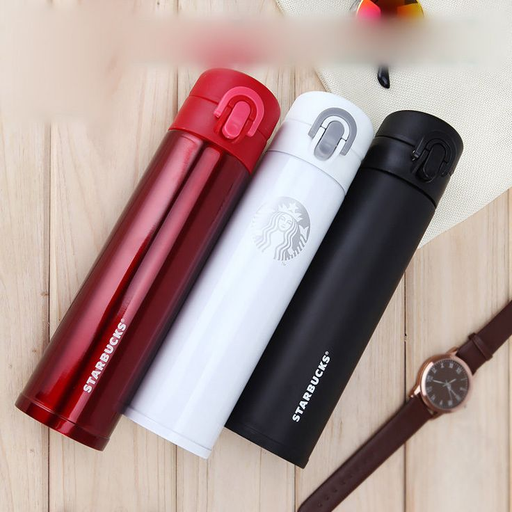 Stainless Steel Thermal Insulated Thermos Cartoon Starbucks Portable Travel Mug