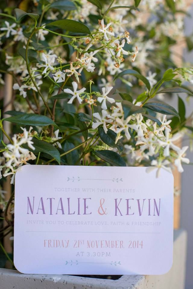 Natalie & Kevin - Invitation by Lulu & Bee. Photography by Mint Photography