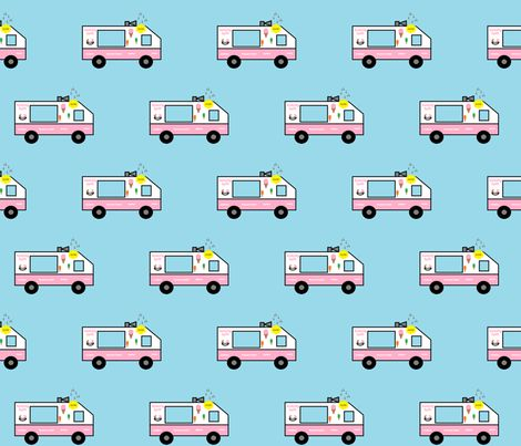 Lickety Split Ice Cream Truck fabric by adorable_designs on ...