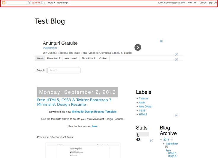 How To Remove The Blogger Navbar