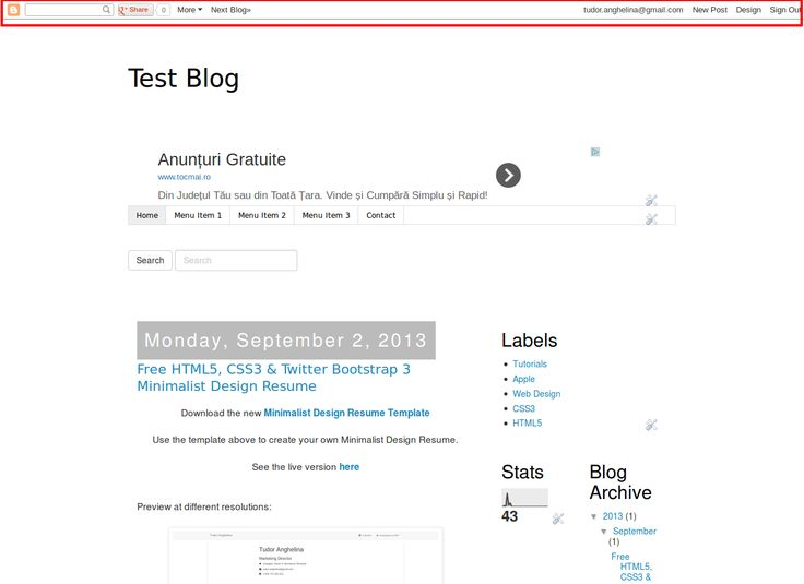 How To Remove The Blogger Navbar