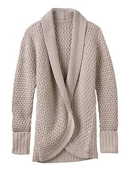 Saturday Sweater - The chunky wool-knit sweater fashioned after your favorite, borrowed-from-the-boys oversized cardi.