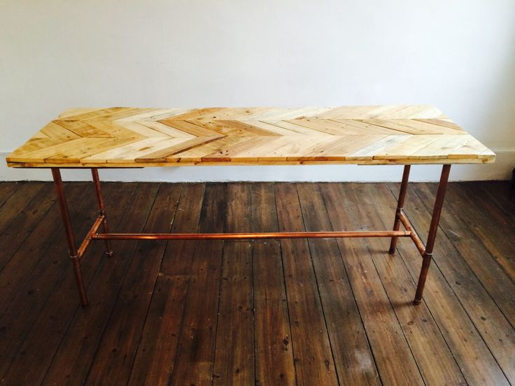 Pallet wood and copper pipe dining table by Jack Relton www.jackrelton.com