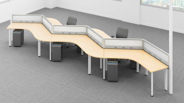 Pole Based Cubicles : Degree grid flexibility enwork workstations open