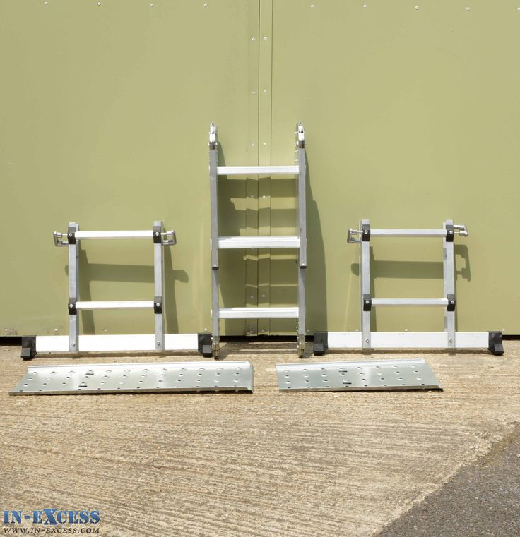 Multi Position Folding Extension Scaffold Ladder 306cm with 2 Step Platforms £59.95 #ToolWeek #InExcessUK