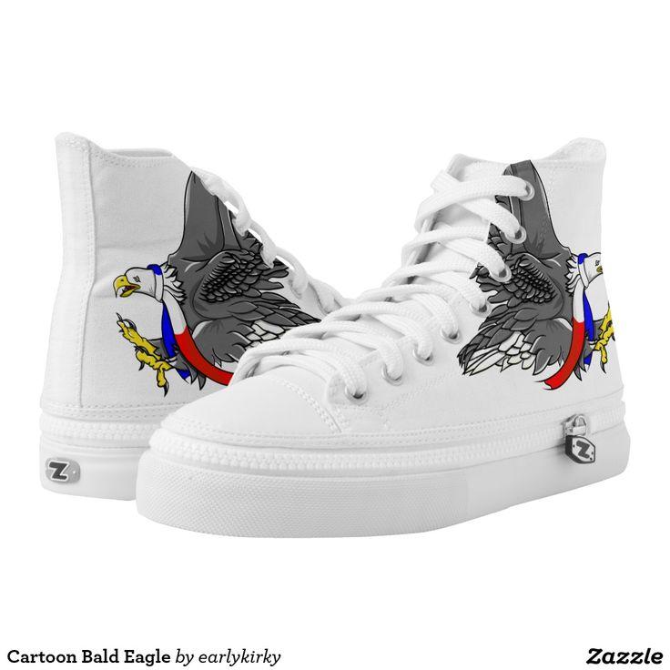 Cartoon Bald Eagle Printed Shoes