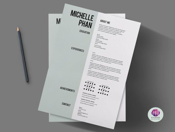 Resume template cover letter template by ChicTemplates on Etsy