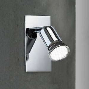 a wofi led lampara pared spot solution 1 luces cromado lampara 463401010000