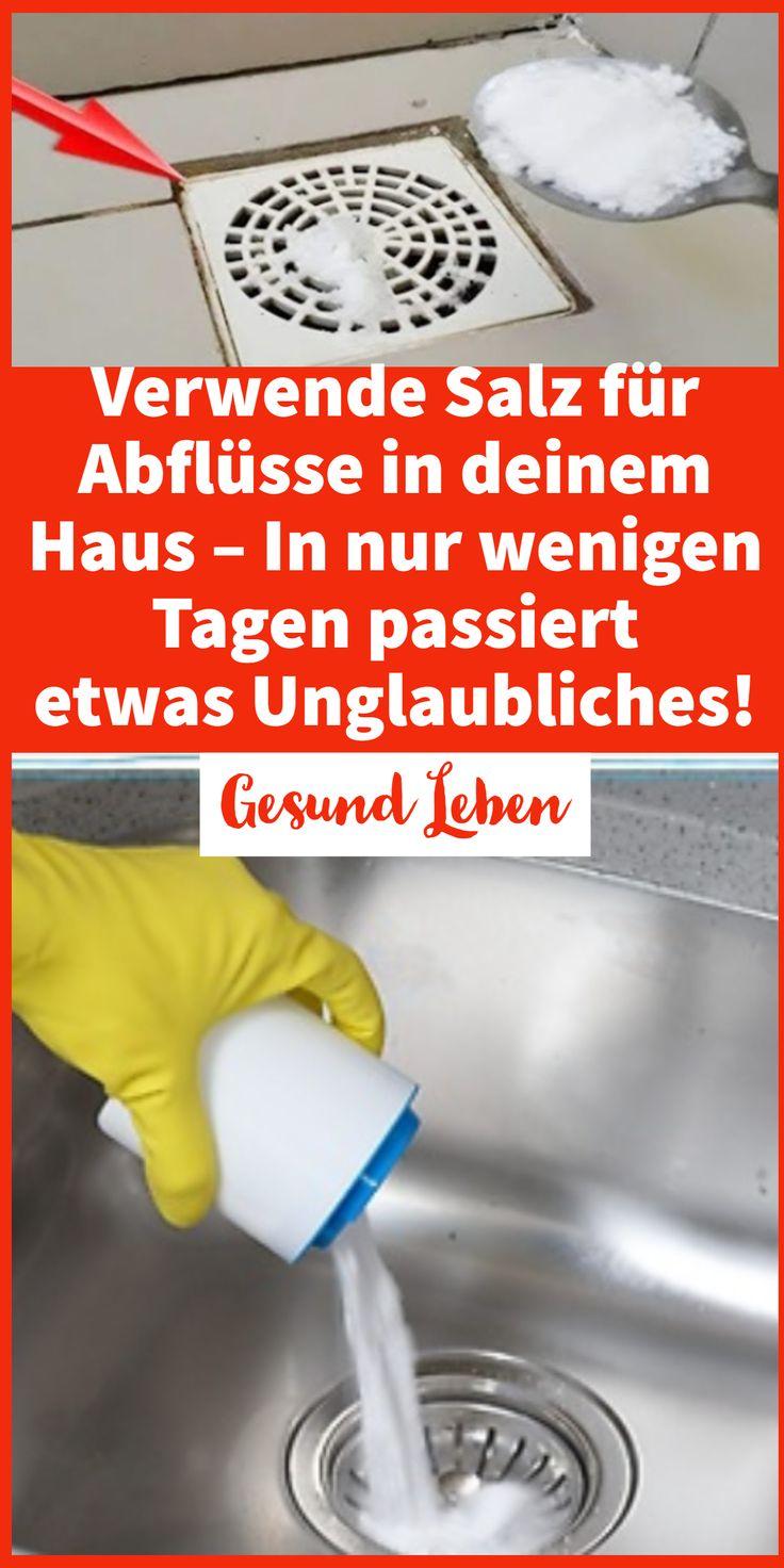 Verwende Salz für Abflüsse in deinem Haus – In nur wenigen Tagen passiert etwas Unglaubliches!  – Silvia Merkel