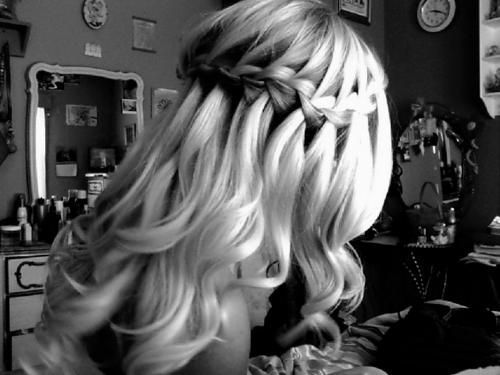 Beautiful Makeup, Wedding Hair, Waterfal Braids, Long Hair, Prom Hairstyles, Awesome Braids, Waterfall Braids, Pretty Hair, Thick Hair