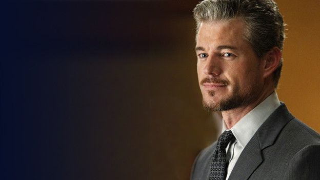 Mark Sloan  Played by Eric Dane    POSITION:  Attending (Plastics)    STRENGTHS:  Charming; confident; great with his hands    WEAKNESSES:  Women; smug; smarmy